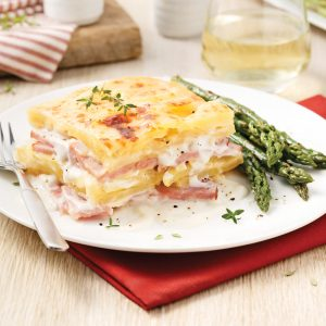 Potato and Ham Gratin