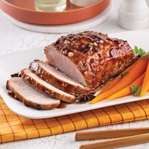 Rôti de porc caramélisé à l'asiatique à la mijoteuse