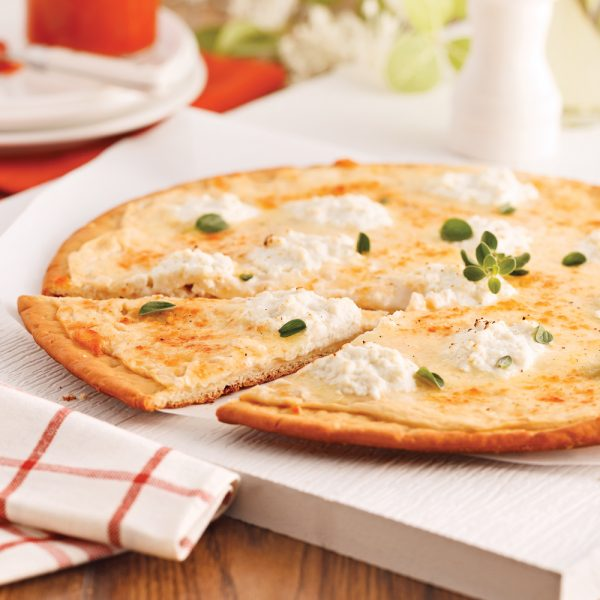 Pizza blanche aux trois fromages