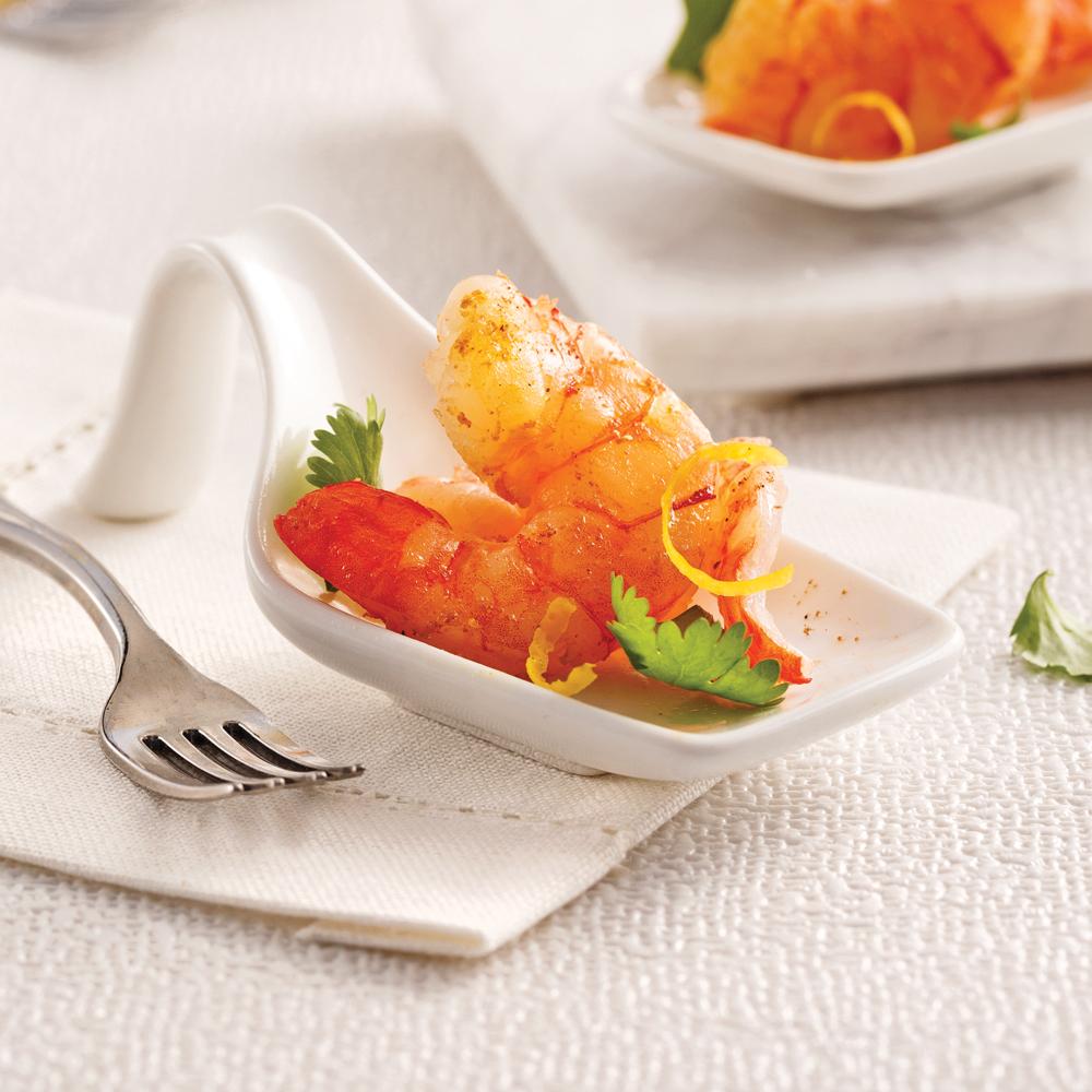 Crevettes citronnées au garam masala