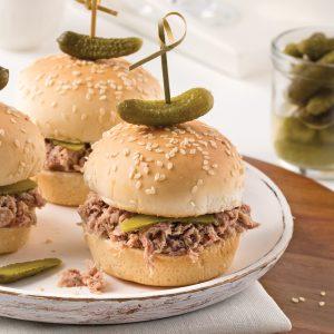 Mini-burgers aux rillettes de canard