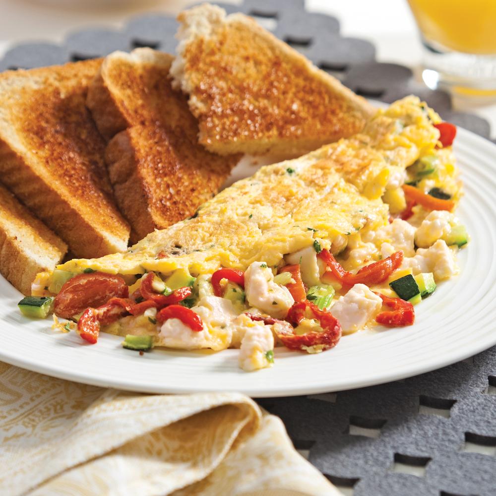 Omelette courgette et feta