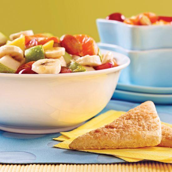 Salade de fruits au sirop d'érable et orange