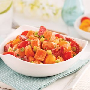 Salade de patates douces toute garnie