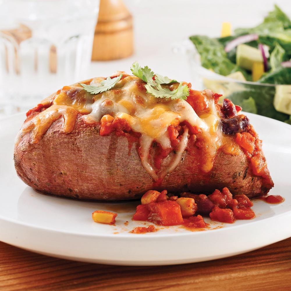 Patates douces au chili végétarien