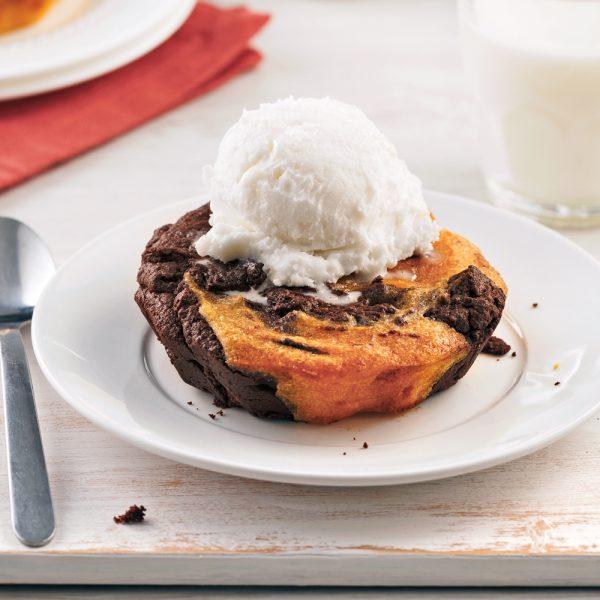 Petits gâteaux au chocolat et patates douces