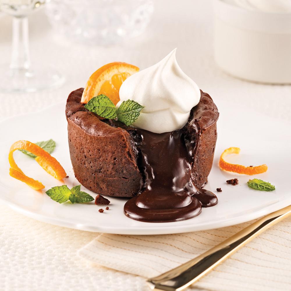 Moelleux fondants au chocolat et Grand Marnier