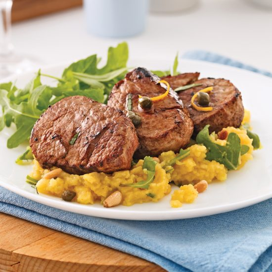 Caper Butter Veal Medallions