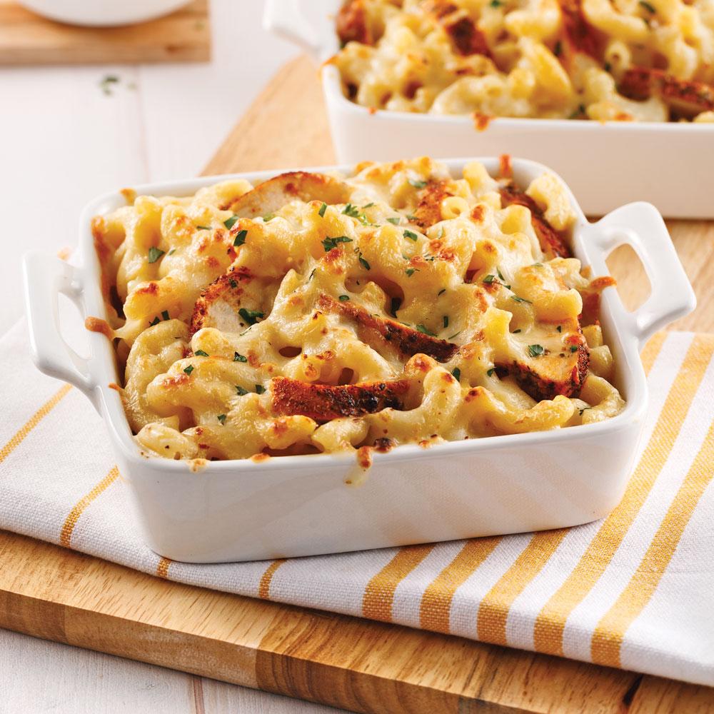 Casserole de macaronis crémeux au poulet