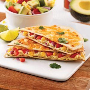 Quesadillas aux légumes et tofu