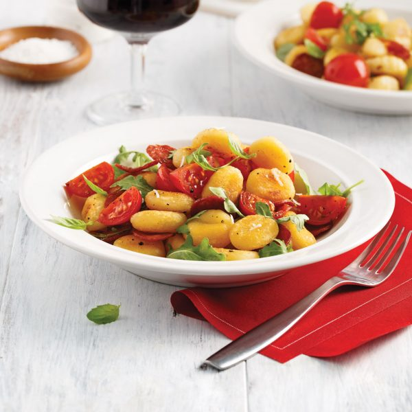 Gnocchis grillés aux tomates et chorizo