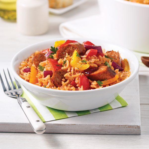 Casserole de riz aux saucisses italiennes