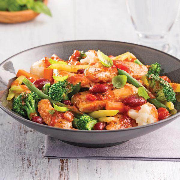 Sauté de poulet aux légumes à l'italienne
