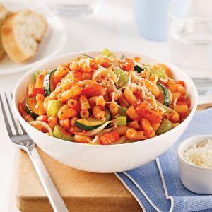 Macaroni aux légumes