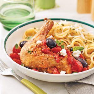 Cuisses de poulet grillées à la grecque
