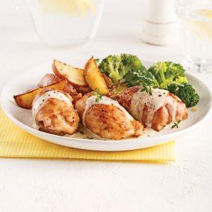 Hauts de cuisses de poulet, sauce crémeuse au citron