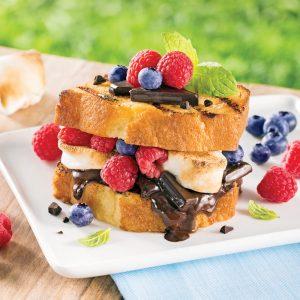 Sandwich fruité s'mores