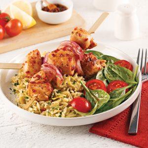 Brochettes de poulet aux tomates séchées