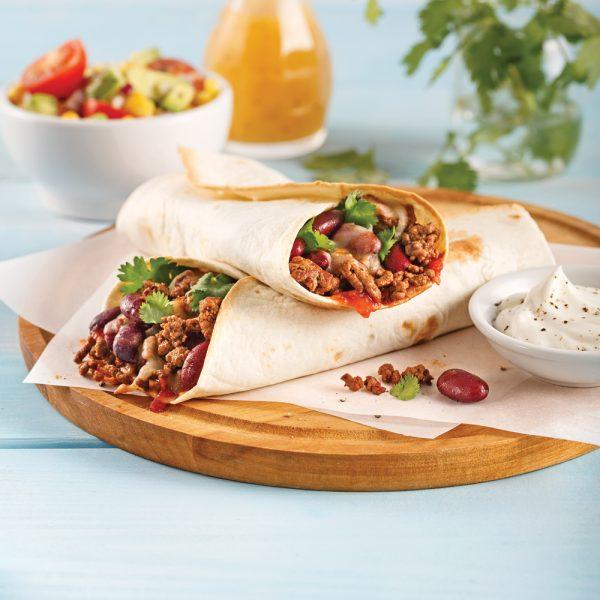 Burritos au boeuf haché
