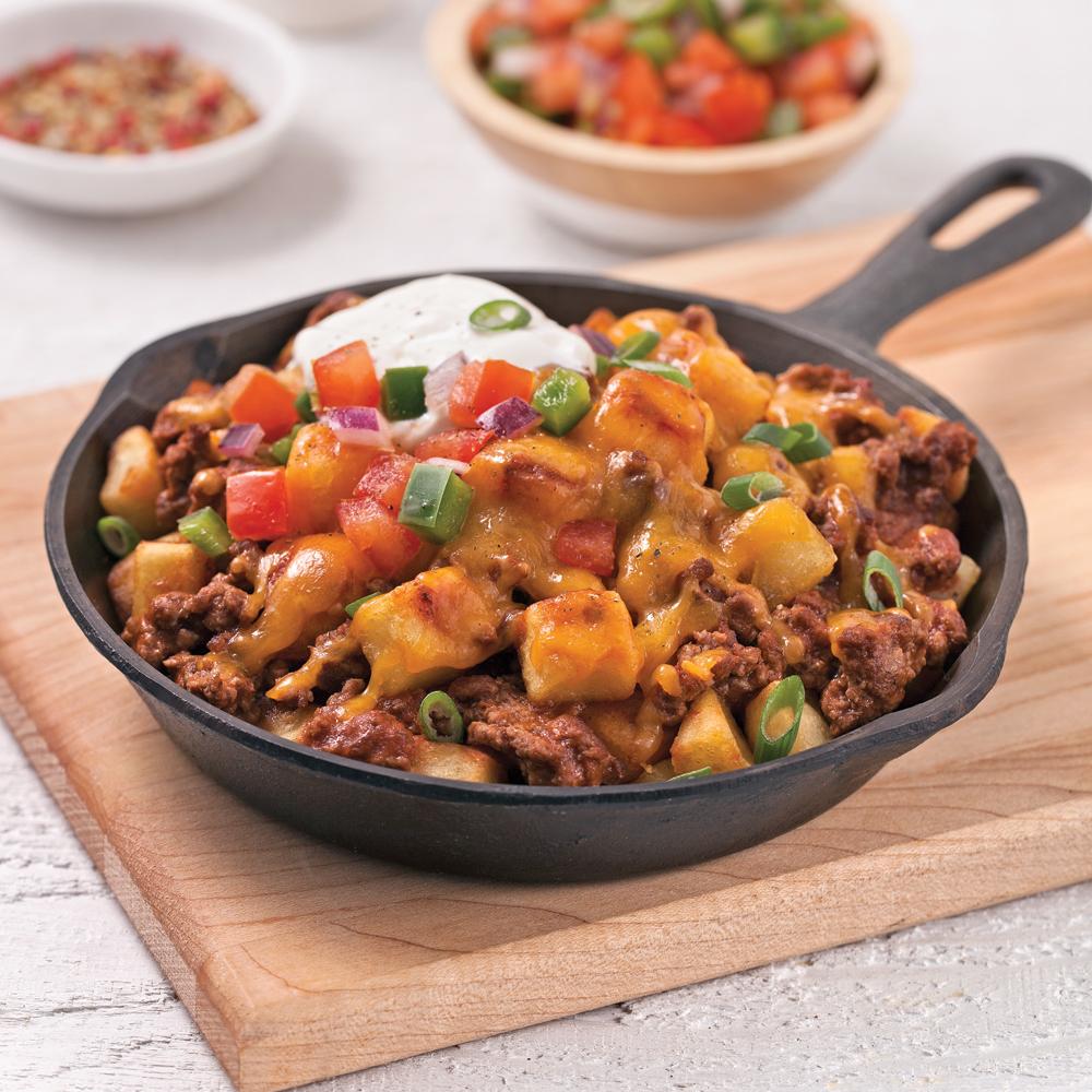 Casserole mexicaine de boeuf et pommes de terre