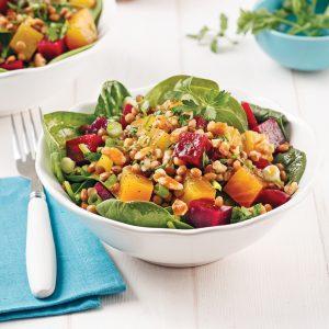 Salade de légumineuses et betteraves