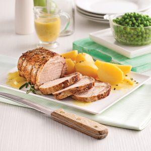 Rôti de porc à l'ail et patates jaunes à la mijoteuse