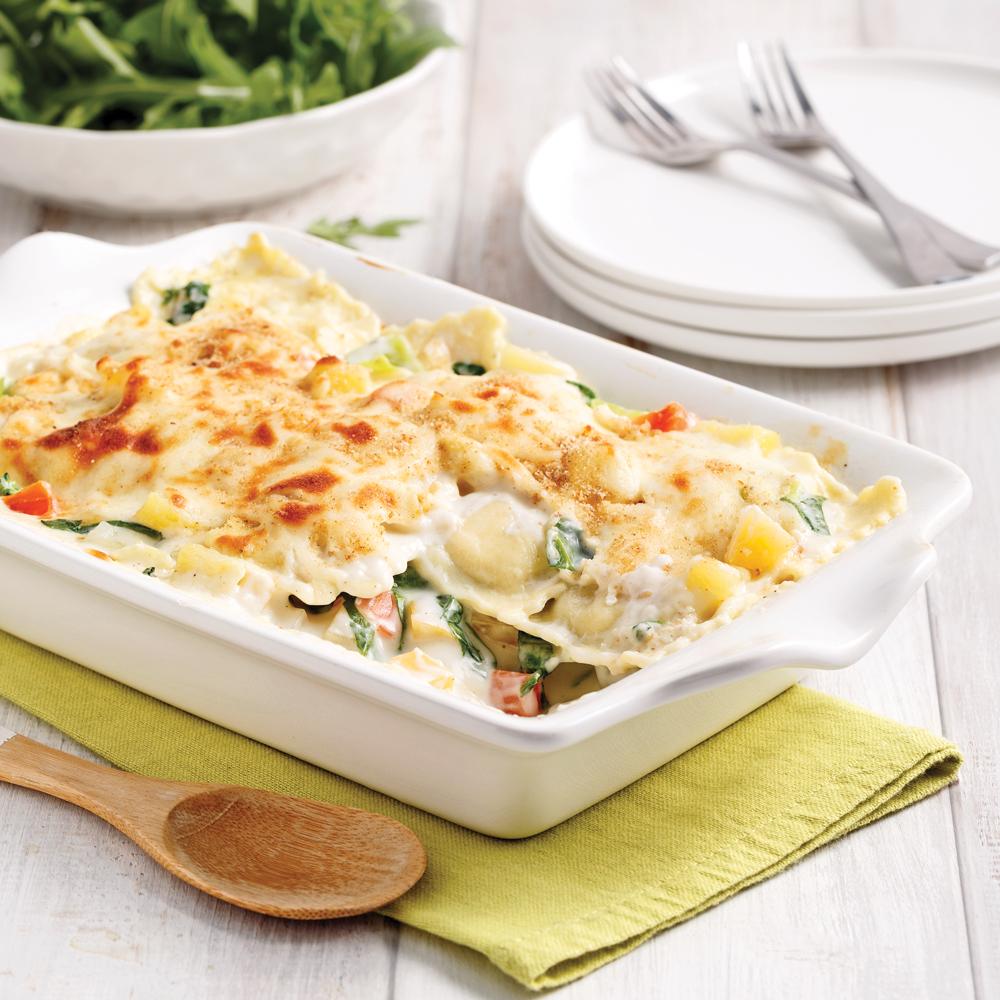 Lasagne de raviolis aux légumes