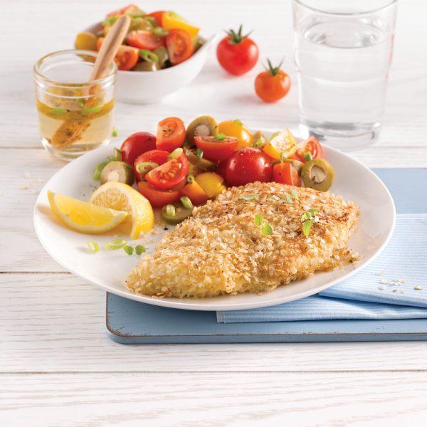 Aiglefin en croûte de quinoa
