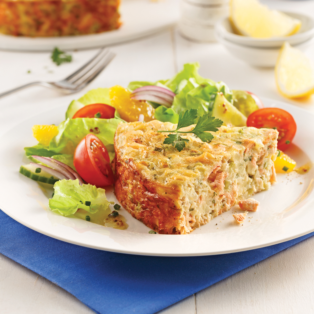 Pâté au saumon sans croûte