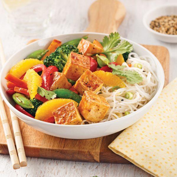 Sauté de tofu teriyaki à l'orange