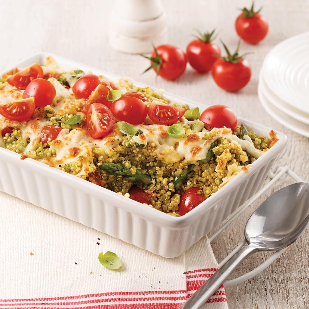 Casserole de quinoa gratinée
