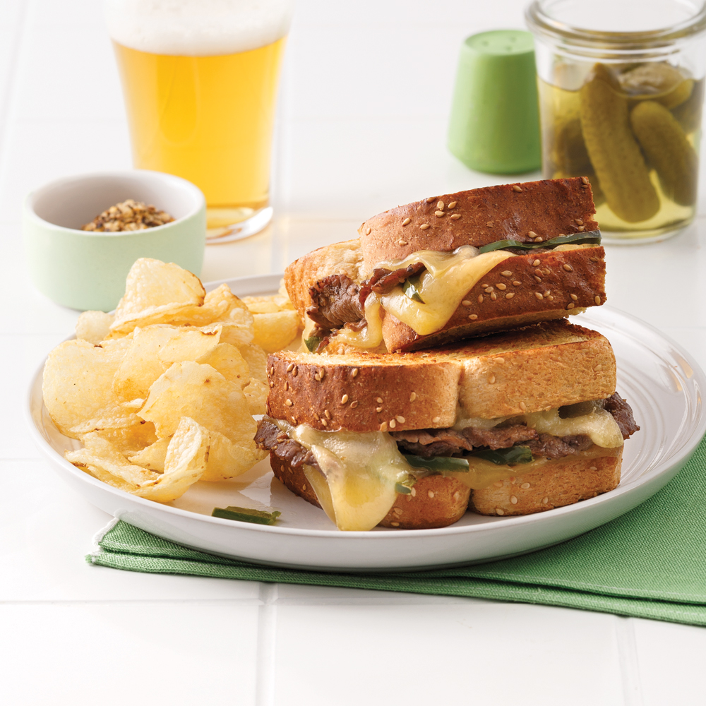 Grilled cheese style «Philly»