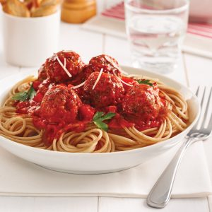Spaghetti aux boulettes de dinde