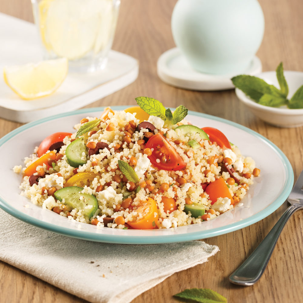 Couscous and Lentil Salad