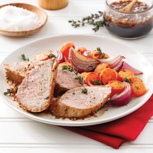 Filet de porc érable, miel et balsamique