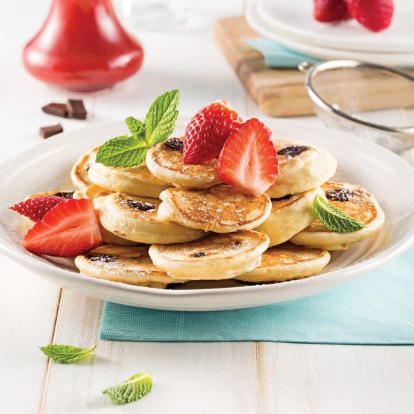 Mini-pancakes au chocolat noir