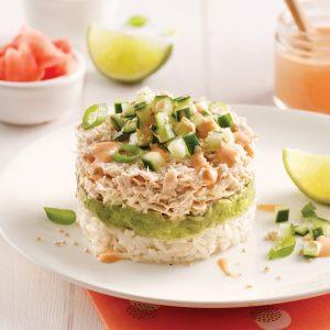 Étagé de thon style sushi