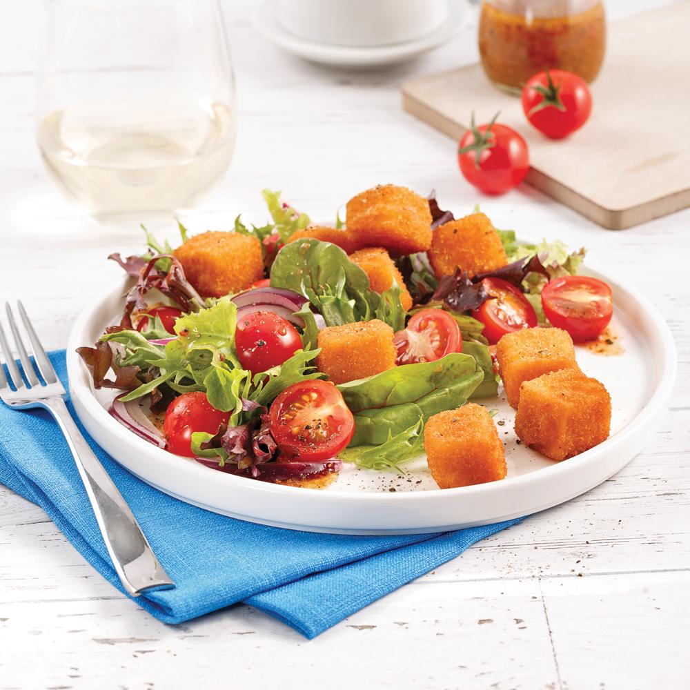 Salade de tomates et fondues parmesan
