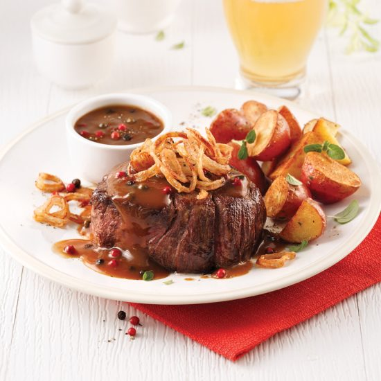 Filet Mignon with Pepper Sauce