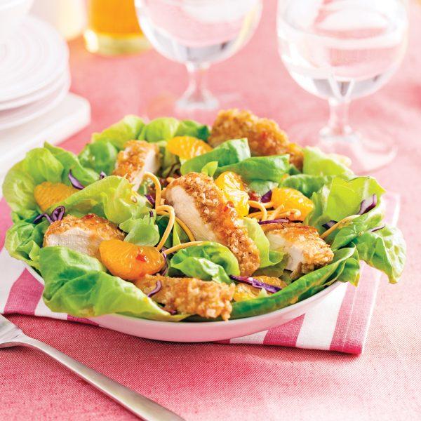 Salade thaï au poulet croustillant