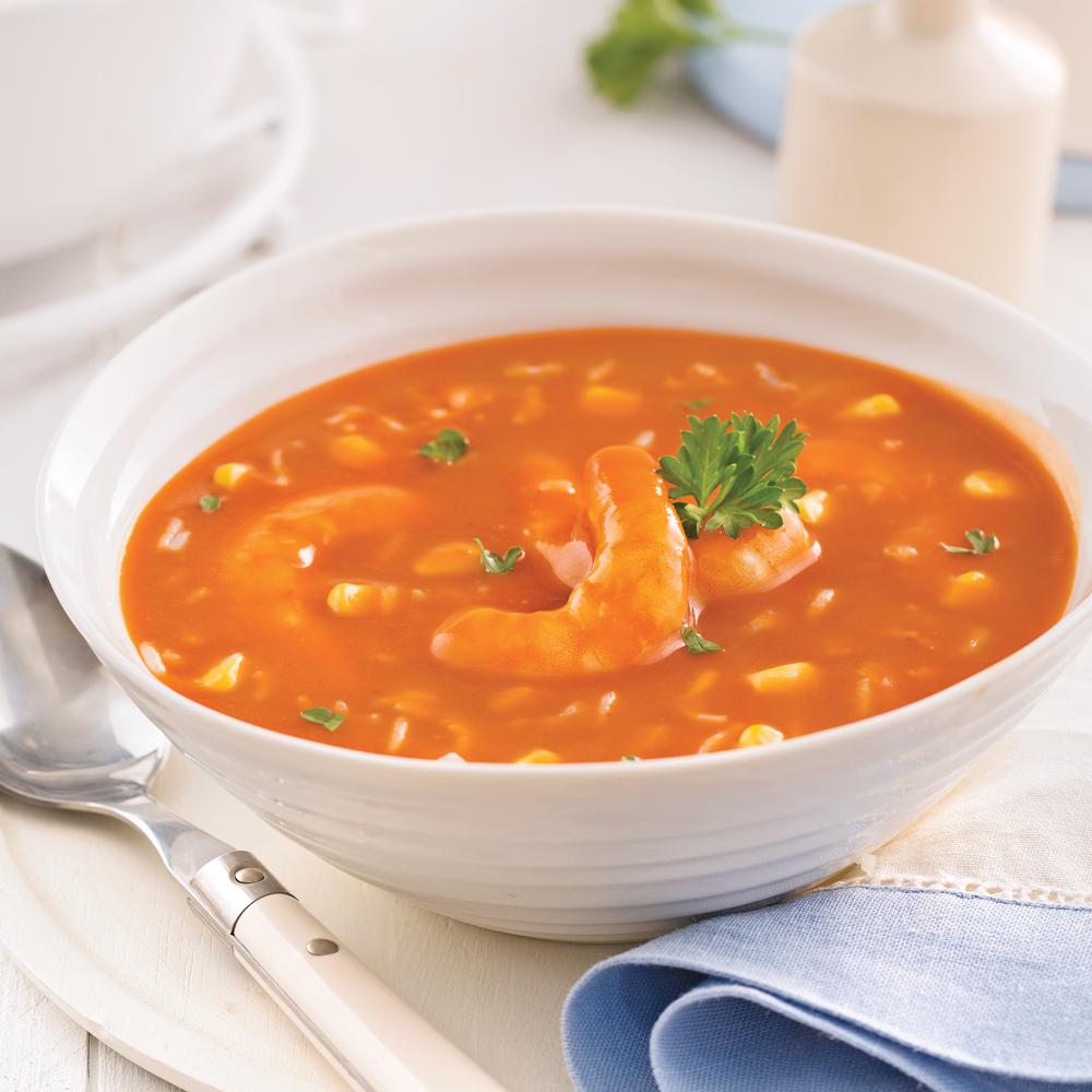 Soupe-repas aux crevettes