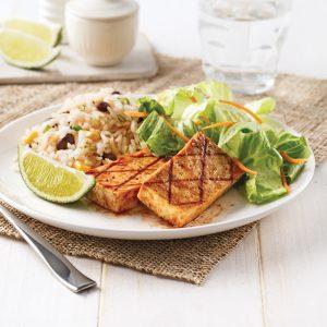 Tofu grillé, marinade jerk