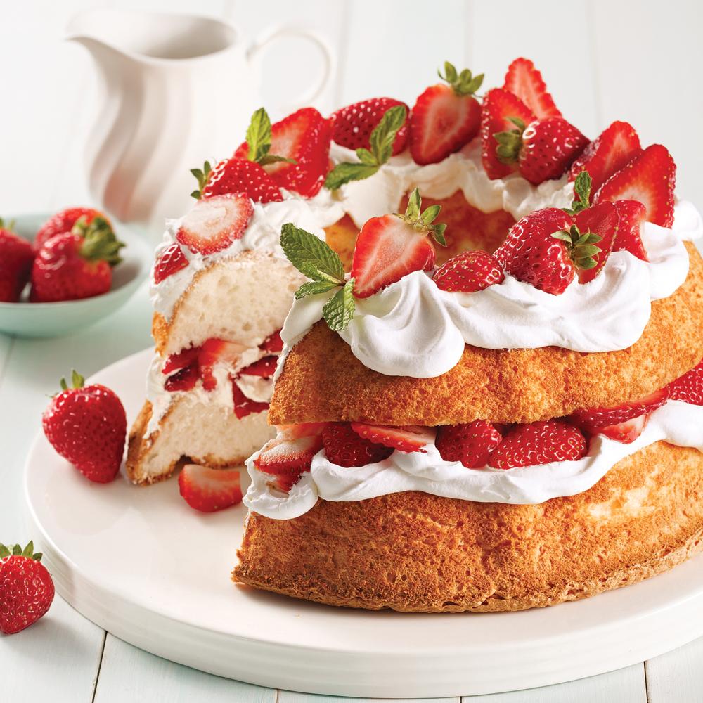 Shortcake aux fraises et miel