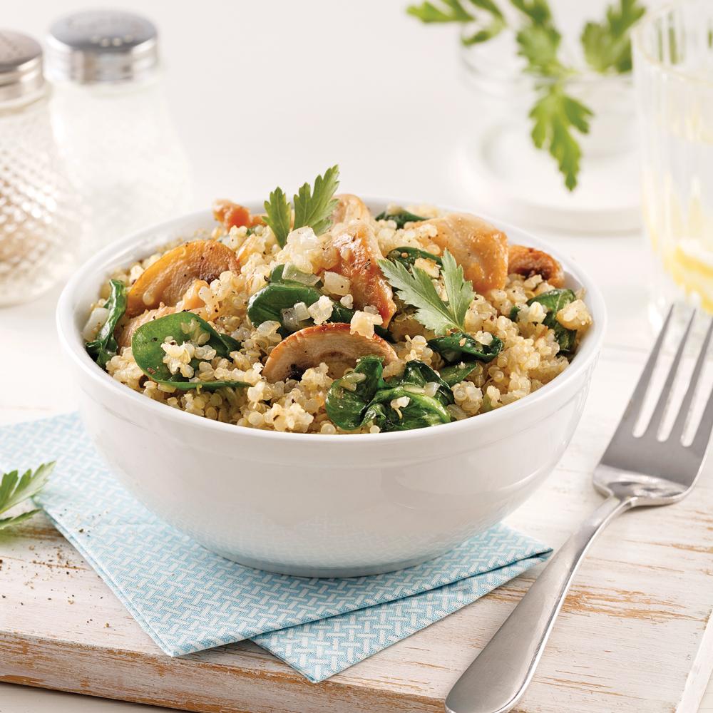 Quinoa au poulet et champignons