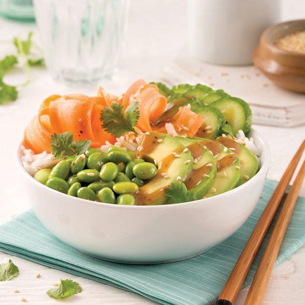 Poke bowl aux edamames