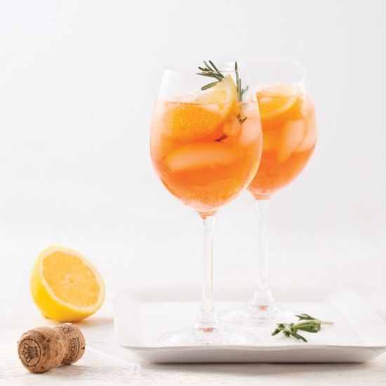 Orange, Lemon and Rosemary Spritz