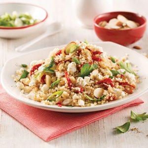 Salade de quinoa aux tomates séchées et amandes