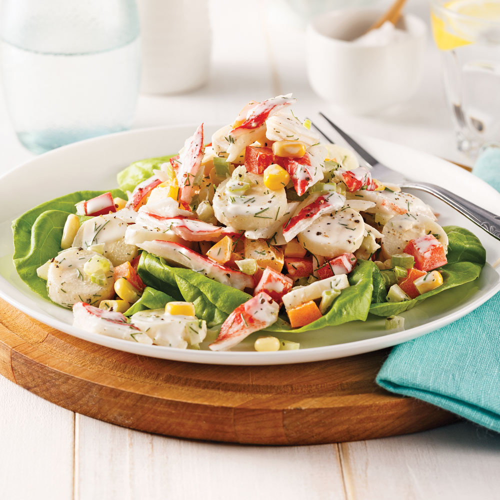 Salade de goberge et coeurs de palmier