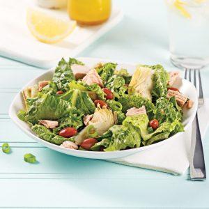 Salade au thon et artichauts