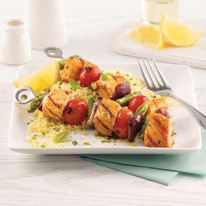 Brochettes de saumon à l'italienne
